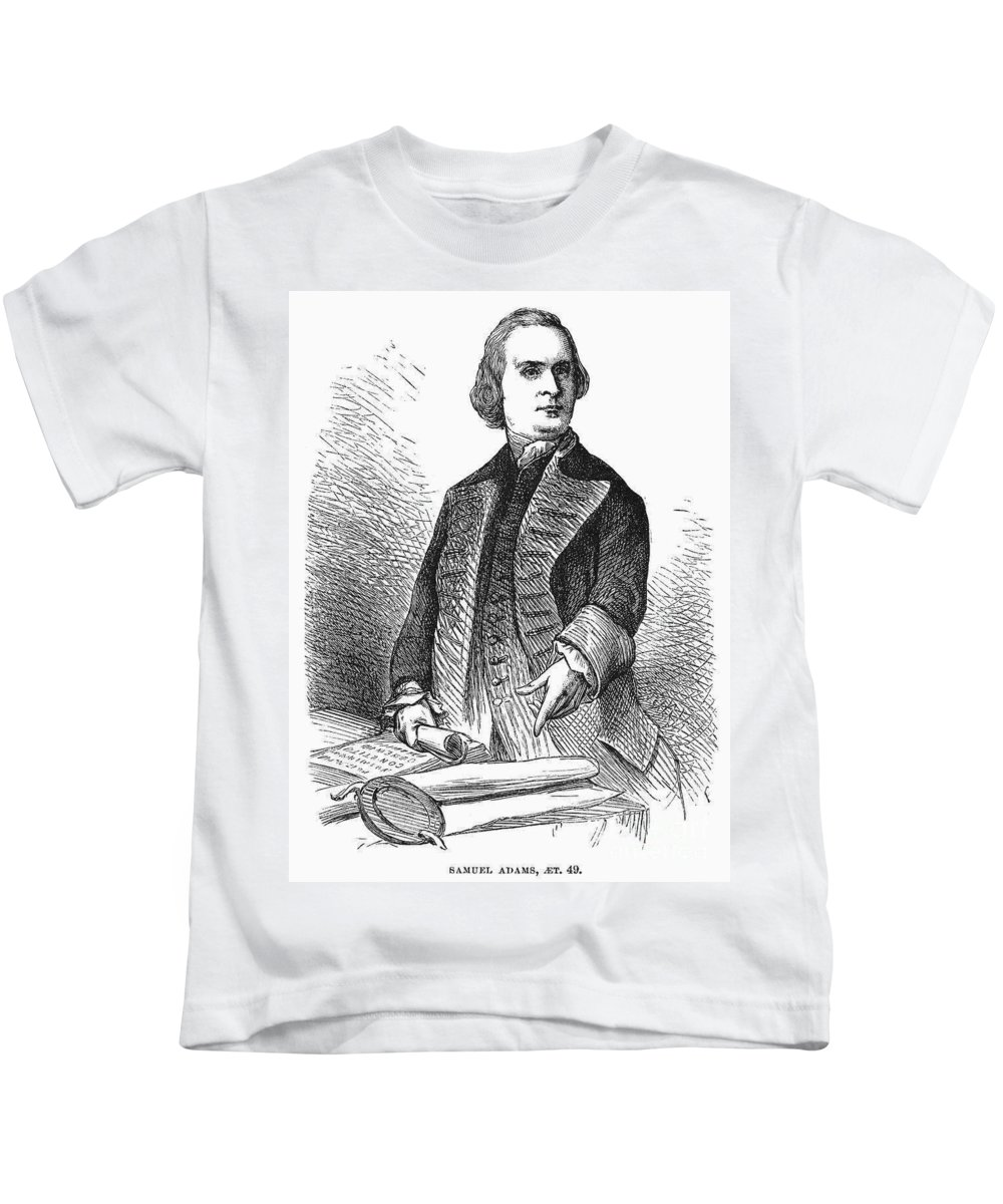 1772 Kids T-Shirt featuring the photograph Samuel Adams (1722-1803) by Granger