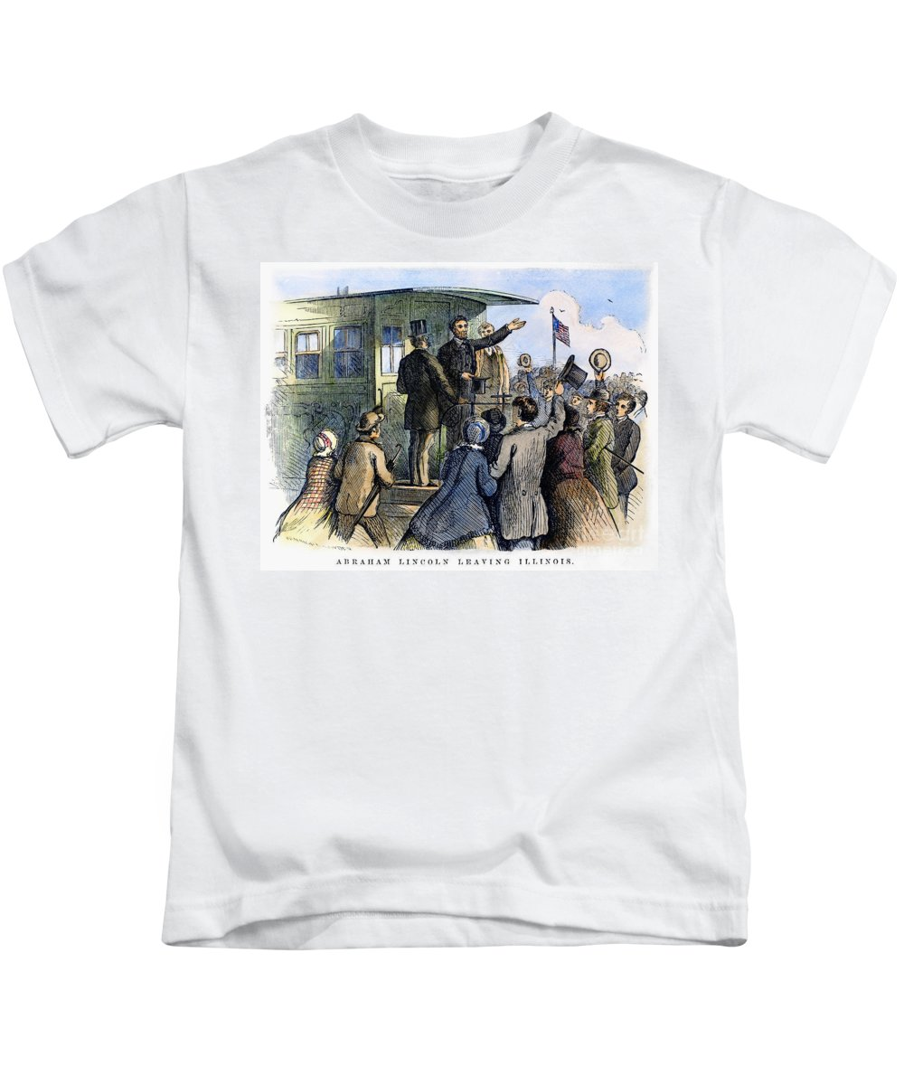 1861 Kids T-Shirt featuring the photograph Abraham Lincoln (1809-1865) by Granger