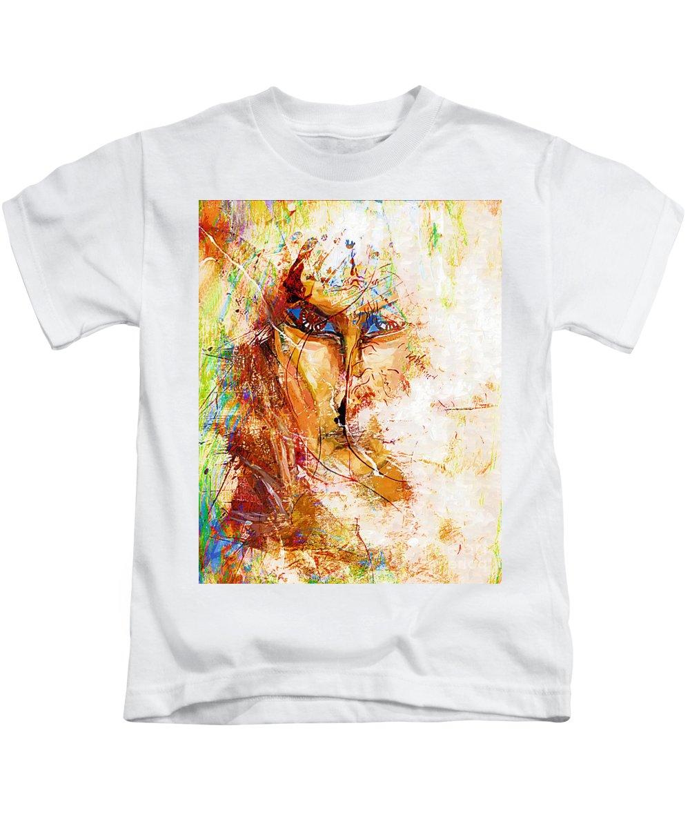 Graphics Kids T-Shirt featuring the digital art Abs 0062 by Marek Lutek