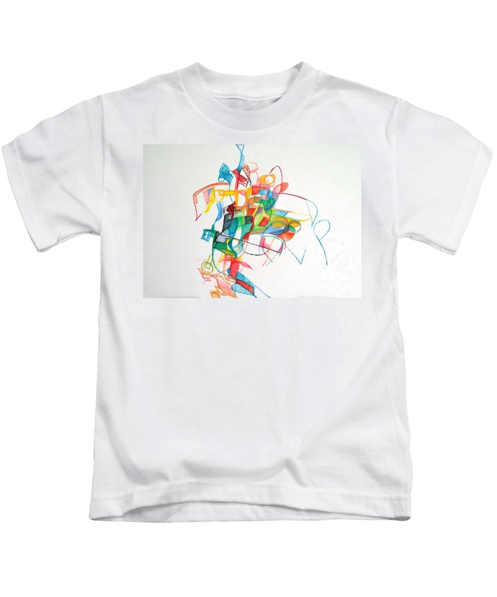Abstrast Art Kids T-Shirt featuring the drawing Elul 5 by David Baruch Wolk