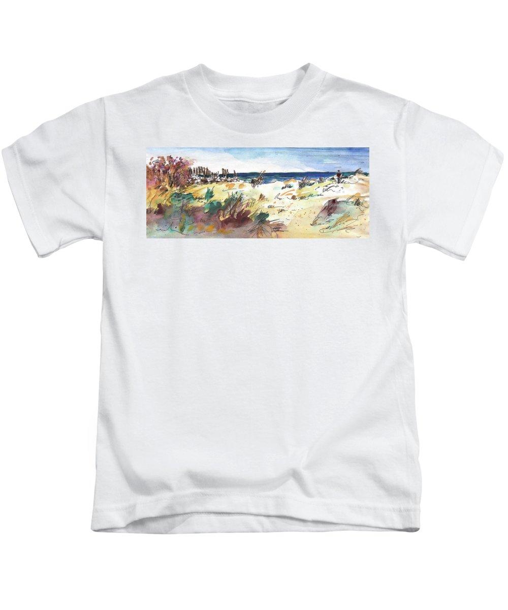 Travel Kids T-Shirt featuring the painting Albufera De Valencia 02 by Miki De Goodaboom