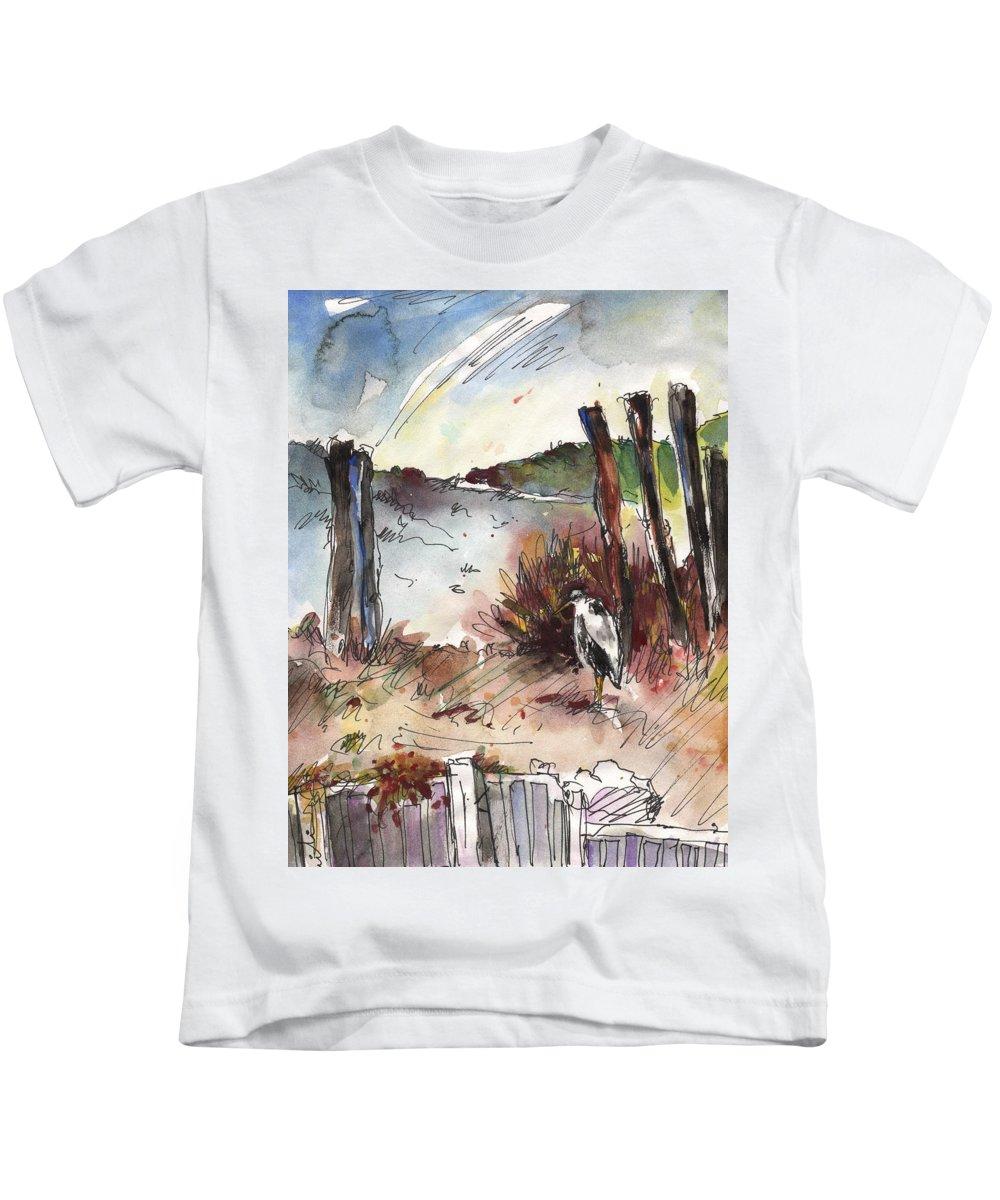 Travel Kids T-Shirt featuring the painting Albufera De Valencia 04 by Miki De Goodaboom