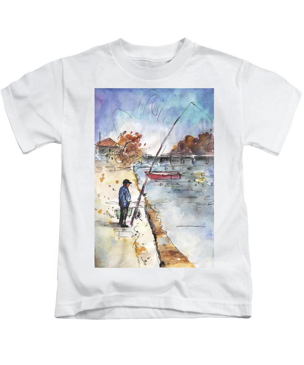 Travel Kids T-Shirt featuring the painting Albufera De Valencia 05 by Miki De Goodaboom