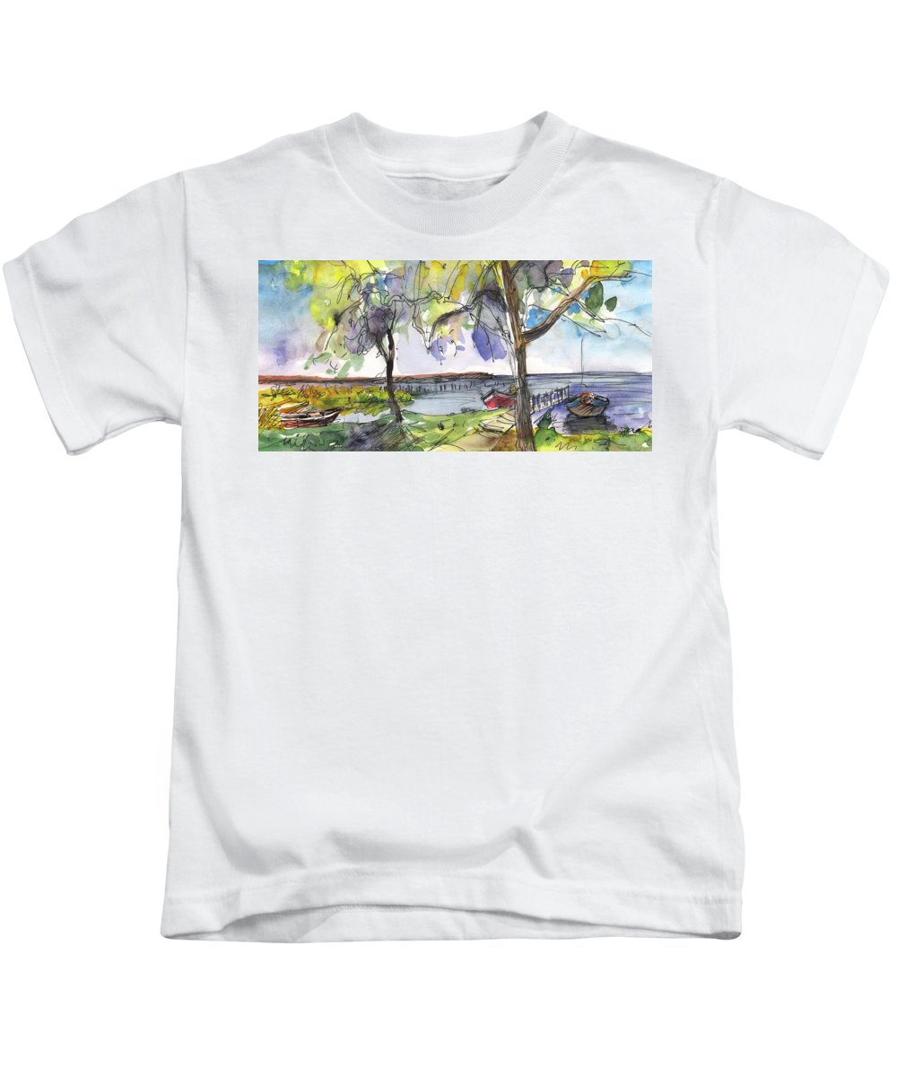 Travel Kids T-Shirt featuring the painting Albufera De Valencia 10 by Miki De Goodaboom
