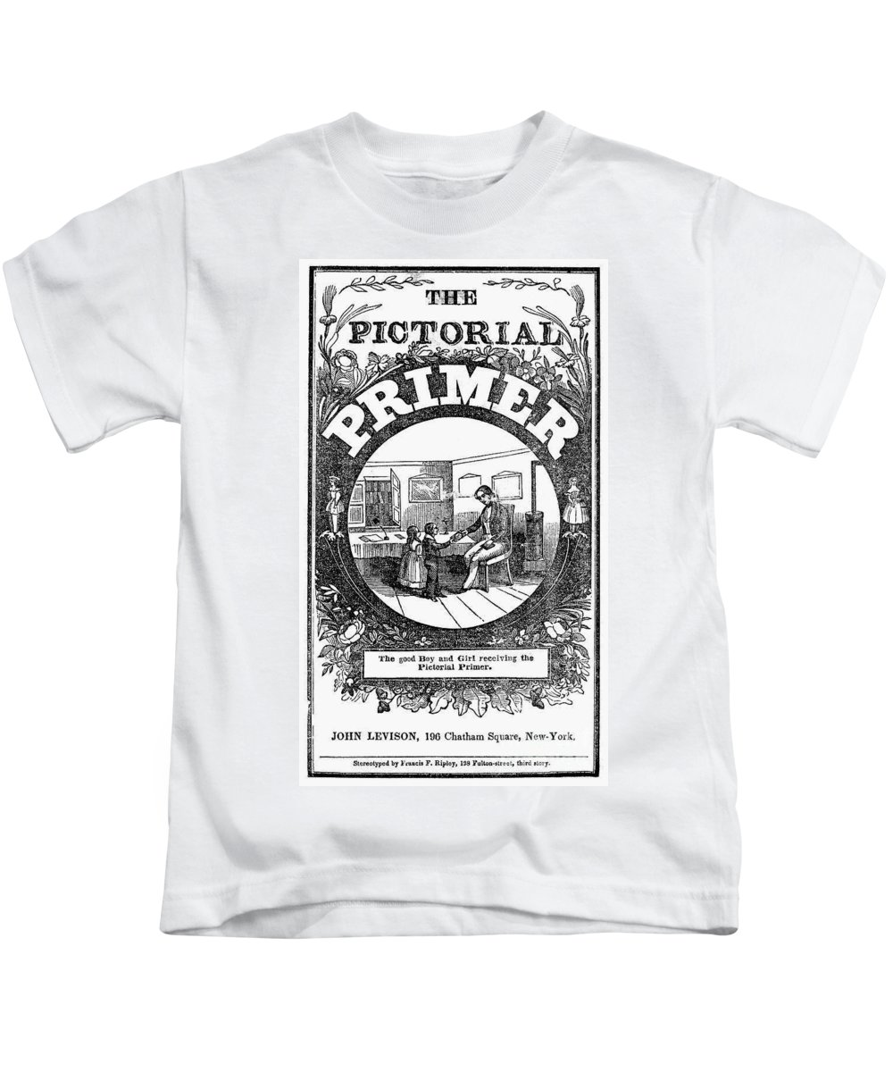1845 Kids T-Shirt featuring the photograph American Pictorial Primer by Granger
