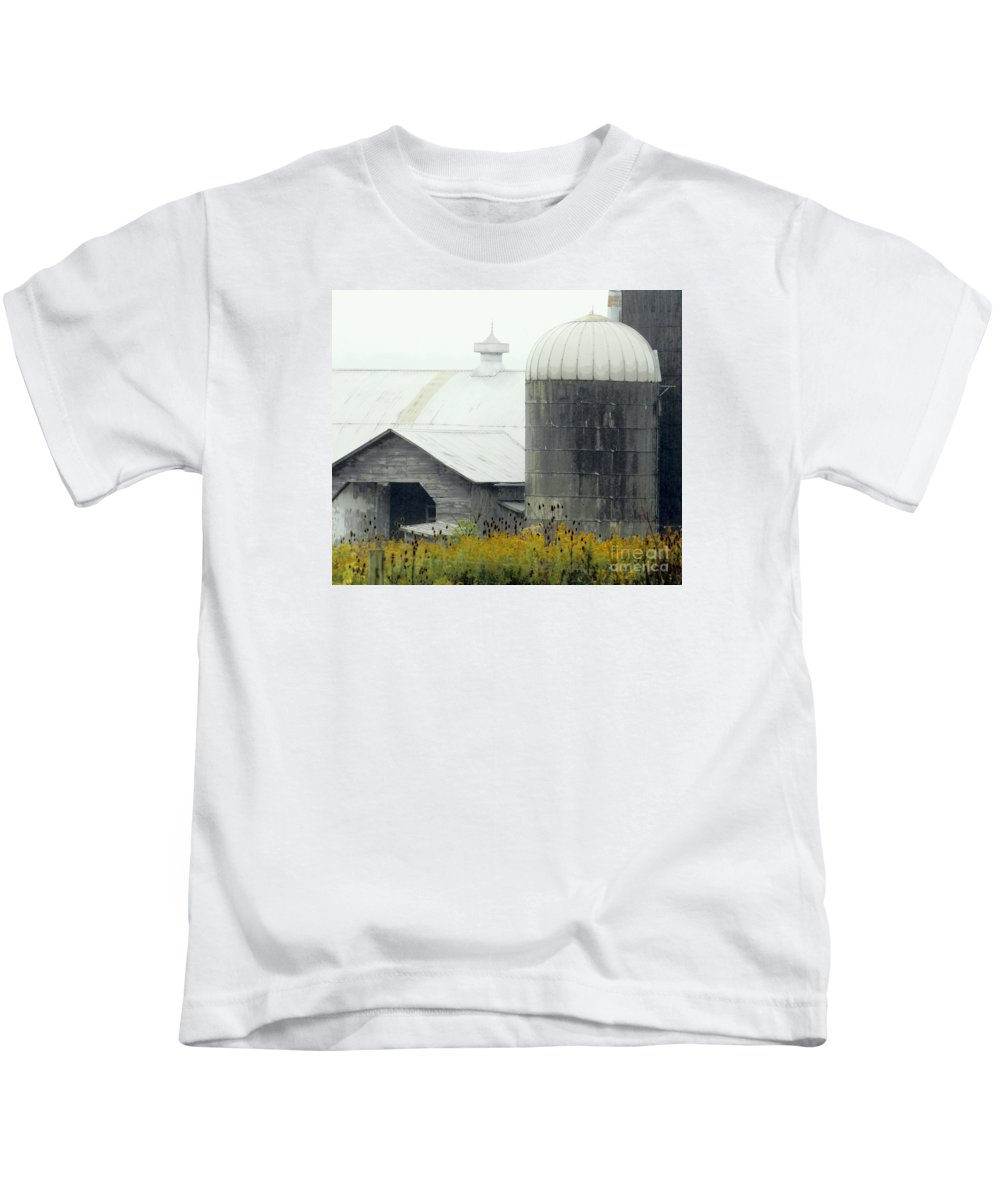 Barn Kids T-Shirt featuring the photograph Autumn Rain by Joe Pratt