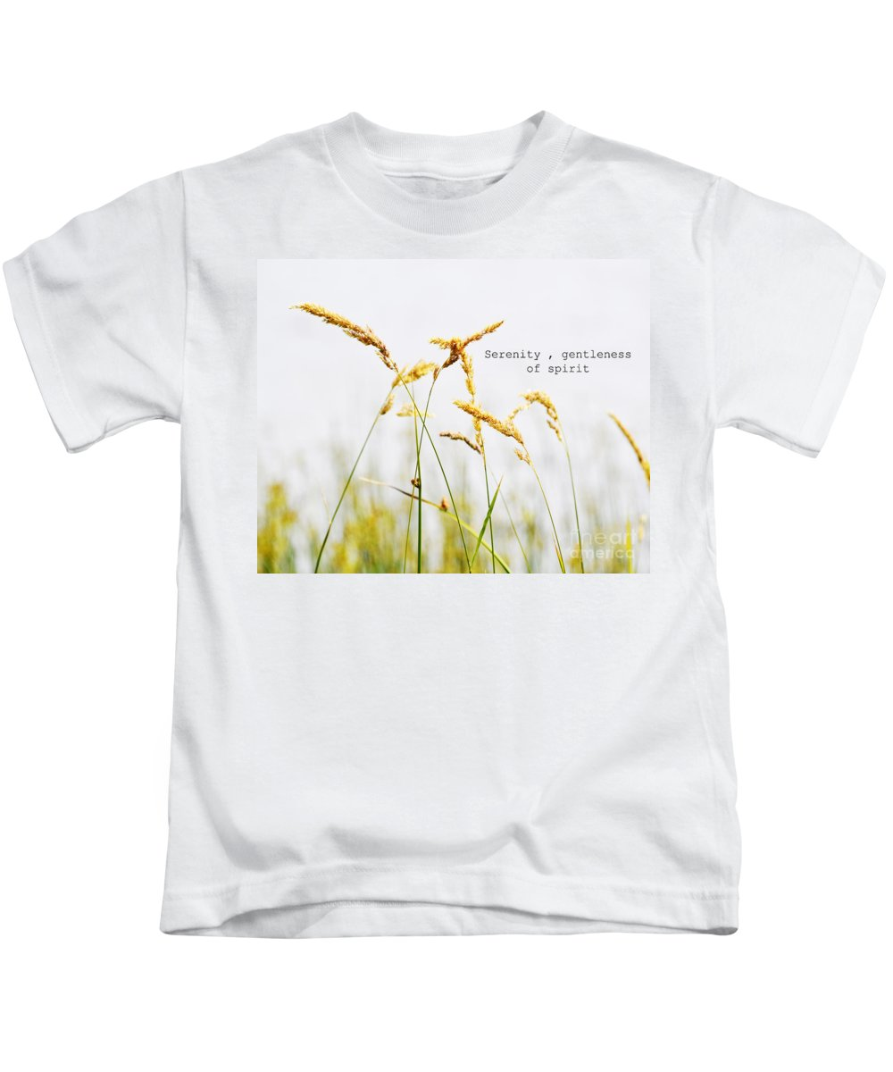 Beach Grass Kids T-Shirt featuring the photograph Beach Grass .serenity. by Traci Cottingham