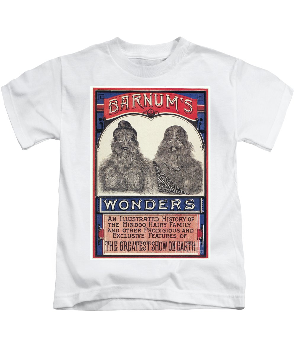 1887 Kids T-Shirt featuring the photograph Bearded Family, 1887 by Granger