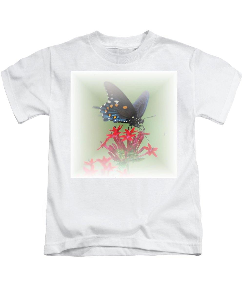 Butterflies Kids T-Shirt featuring the photograph Beauty Flies by Judy Hall-Folde