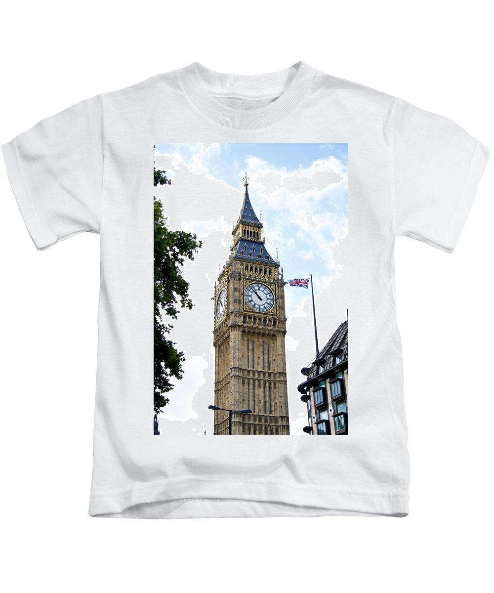 Big Ben Kids T-Shirt featuring the photograph Big Ben by Jim Pruett