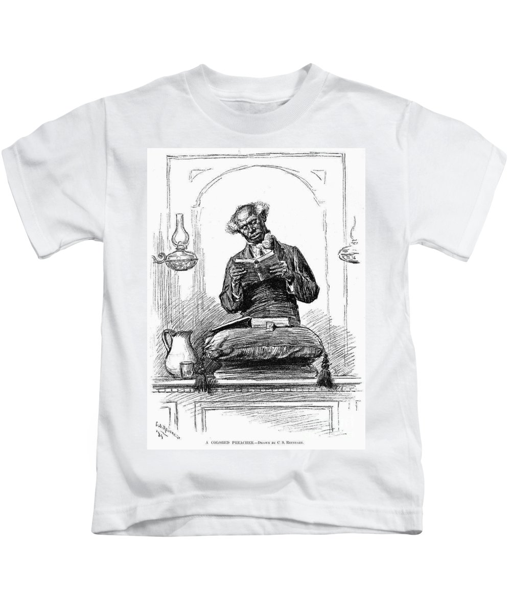 1890 Kids T-Shirt featuring the photograph Black Preacher, 1890 by Granger