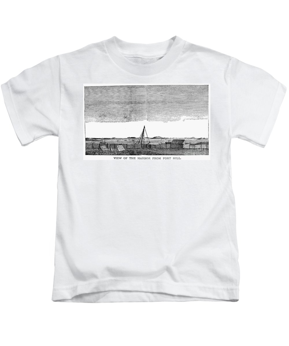1776 Kids T-Shirt featuring the photograph Boston Harbor, 1776 by Granger