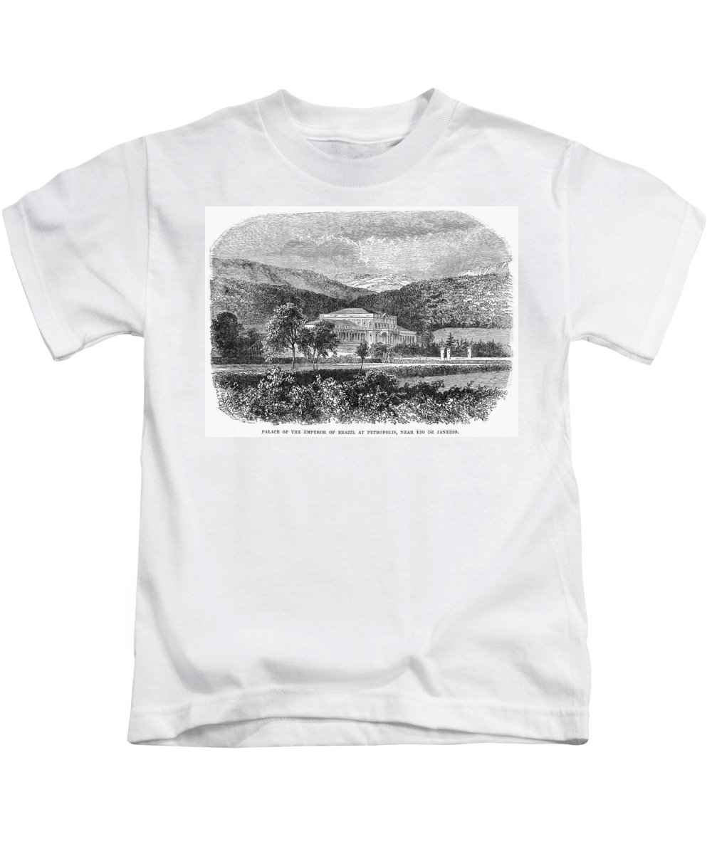 19th Century Kids T-Shirt featuring the photograph Brazil: Emperors Palace by Granger