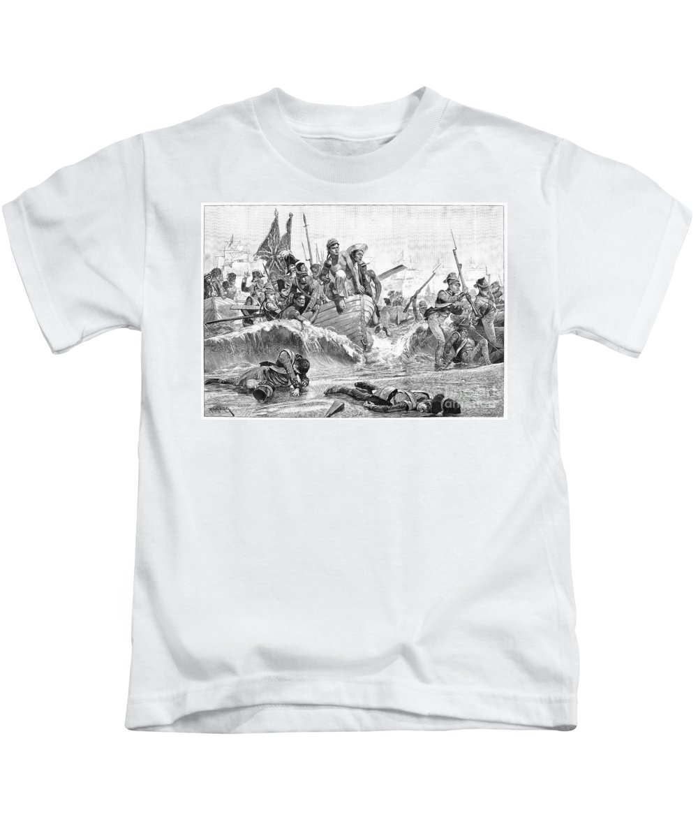 1801 Kids T-Shirt featuring the photograph British At Aboukir, 1801 by Granger