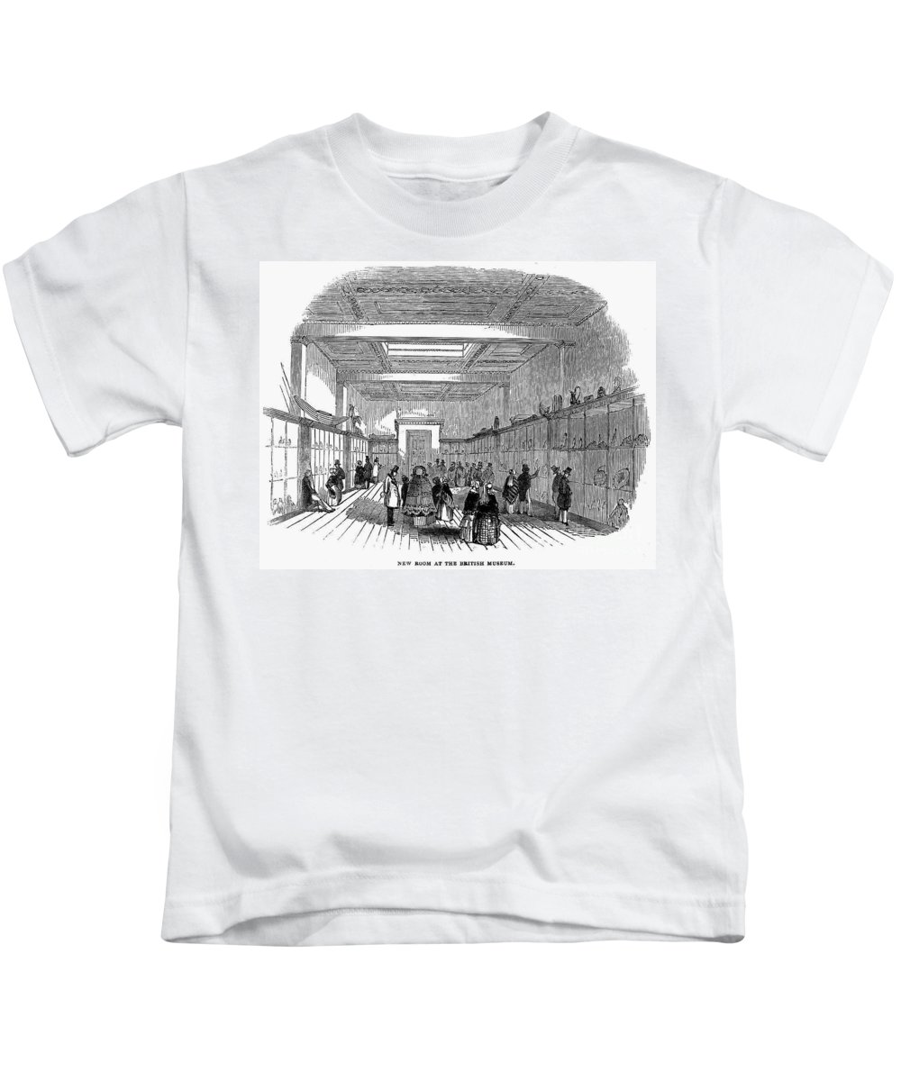 1845 Kids T-Shirt featuring the photograph British Museum, 1845 by Granger