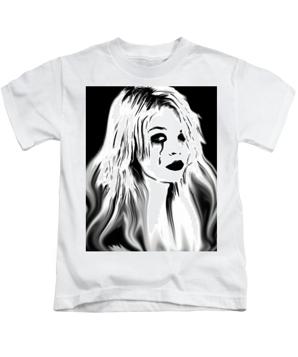 Tears Kids T-Shirt featuring the painting Broken Promises by Thomas Oliver