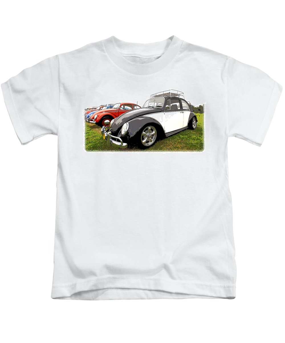 Vw Kids T-Shirt featuring the photograph Bug Show by Steve McKinzie