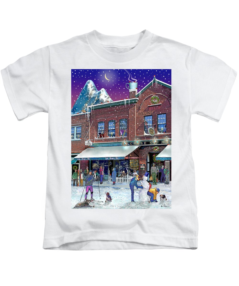 Prints Kids T-Shirt featuring the photograph Cafe Monte Alto by Nancy Griswold