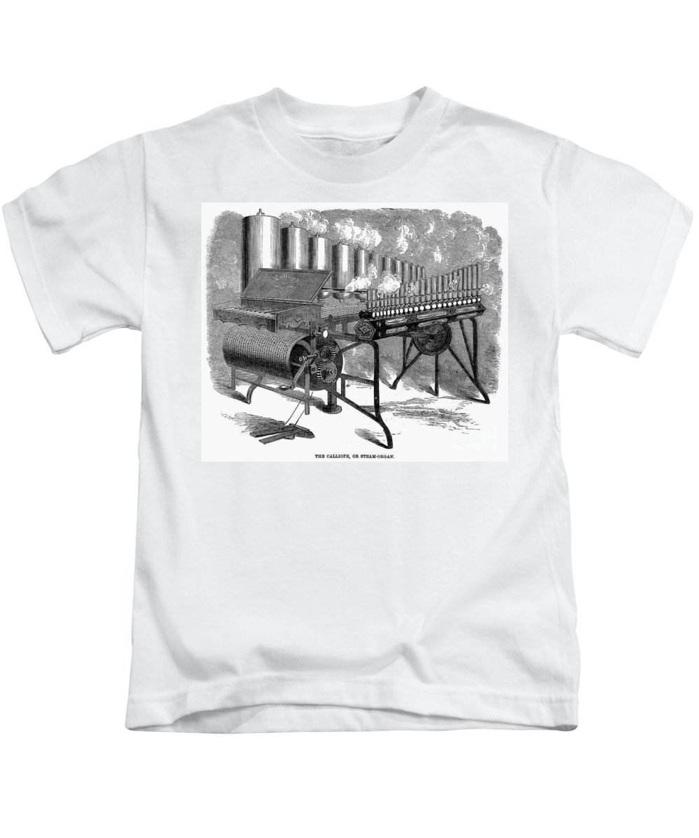 1859 Kids T-Shirt featuring the photograph Calliope, 1859 by Granger