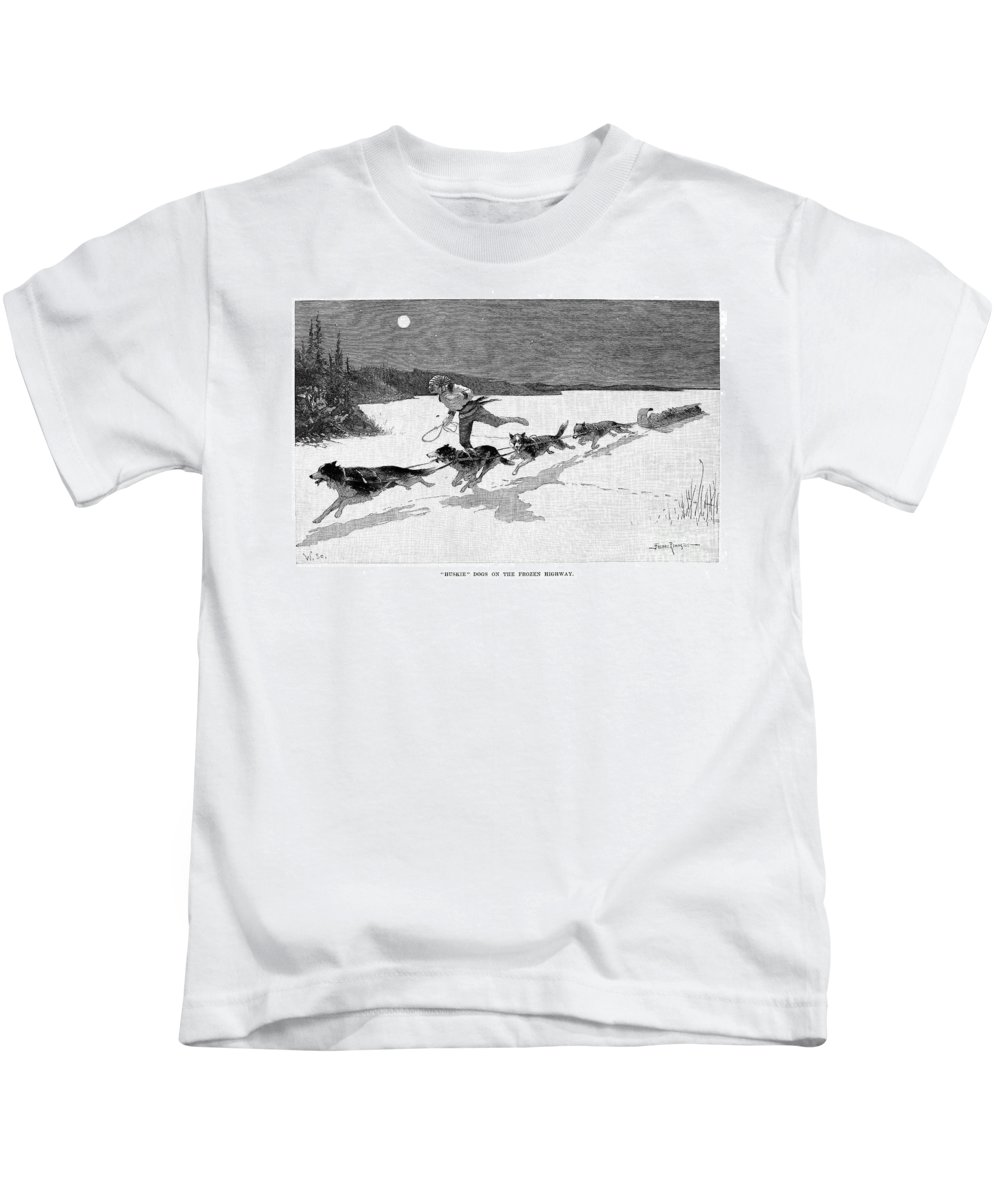 1892 Kids T-Shirt featuring the photograph Canada: Fur Trade, 1892 by Granger