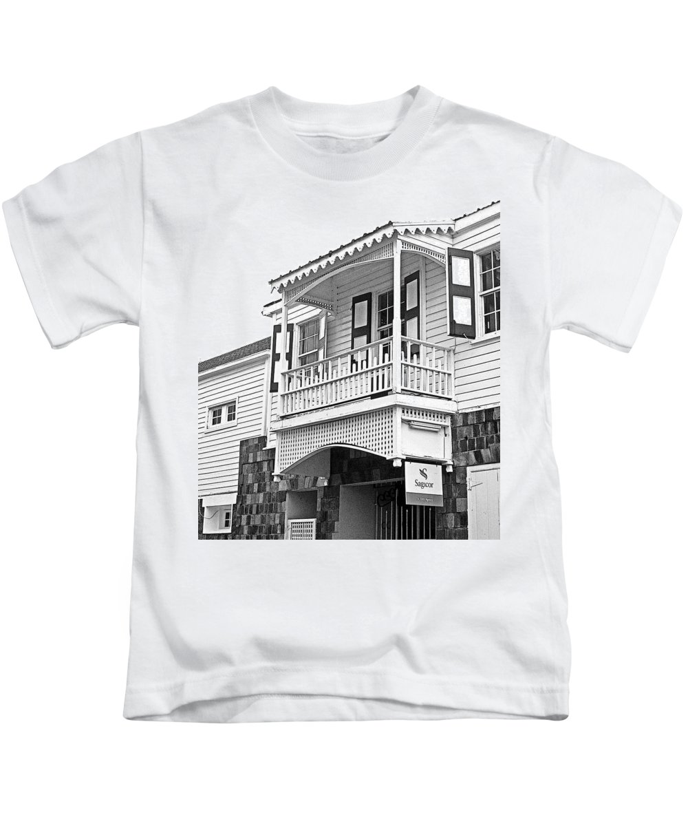 St Kitts Kids T-Shirt featuring the photograph Caribbean Gingerbread by Ian MacDonald