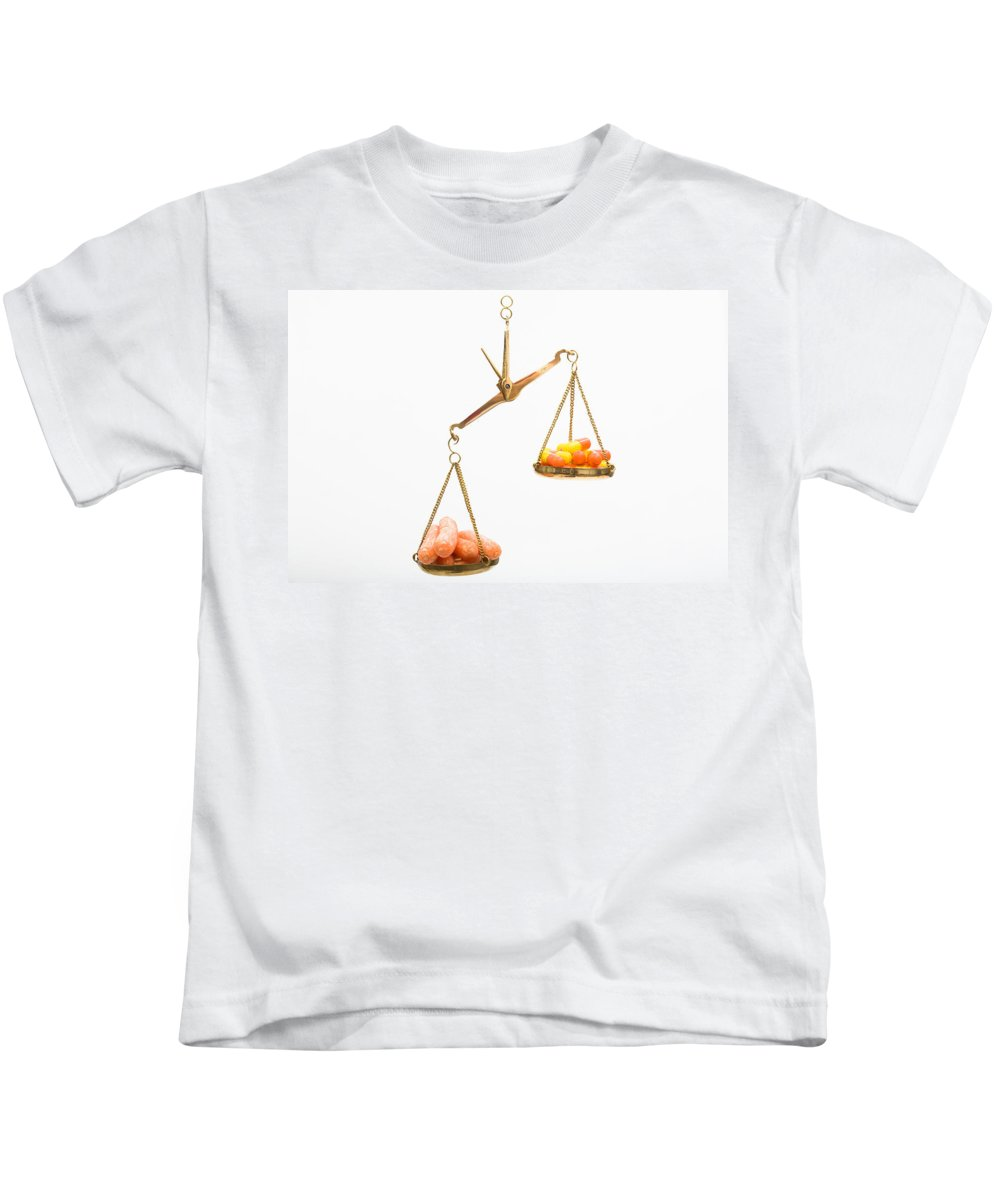 Balance Kids T-Shirt featuring the photograph Carrots And Vitamin C by Diane Macdonald