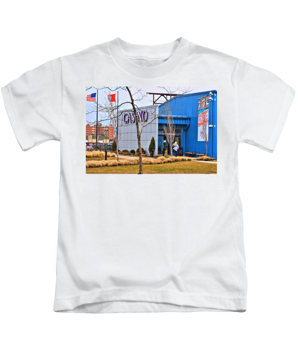Kids T-Shirt featuring the photograph Casino by Michael Frank Jr