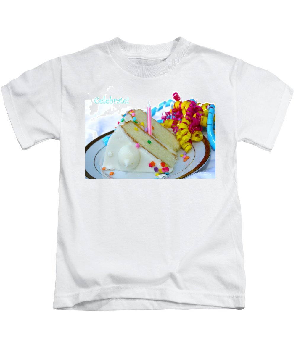 Birthday Kids T-Shirt featuring the photograph Celebrate by Diana Haronis