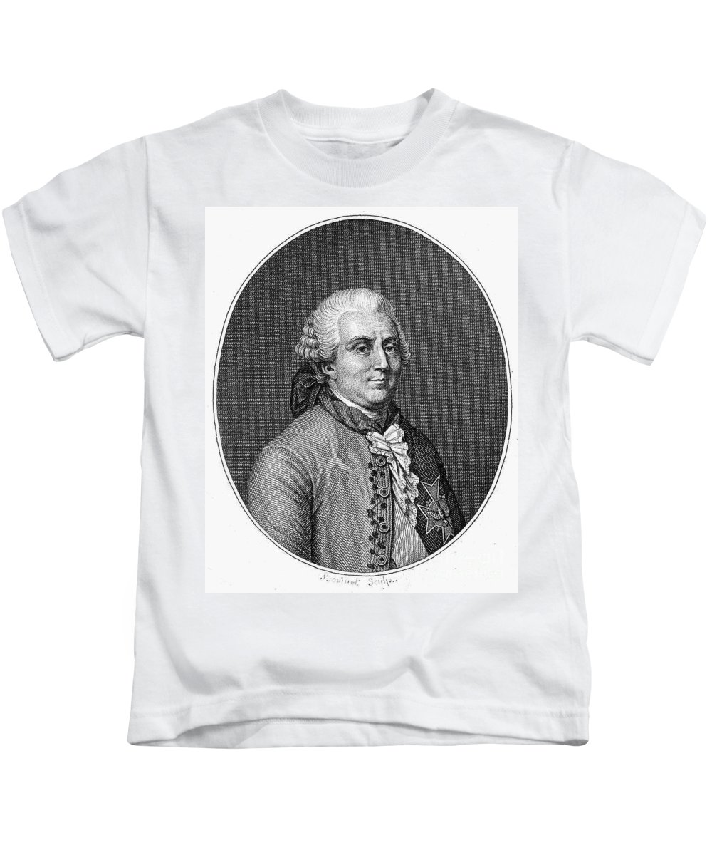 18th Century Kids T-Shirt featuring the photograph Charles De Vergennes by Granger