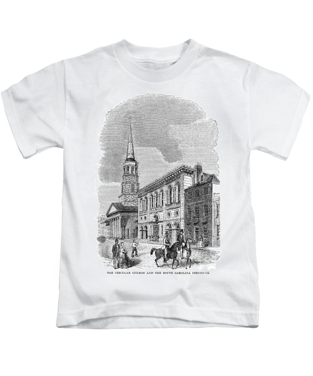 1857 Kids T-Shirt featuring the photograph Charleston, 1857 by Granger