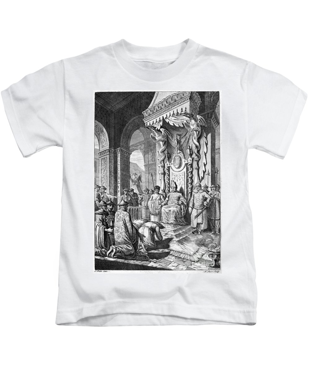 1600 Kids T-Shirt featuring the photograph China: Paying Tribute, C1600 by Granger