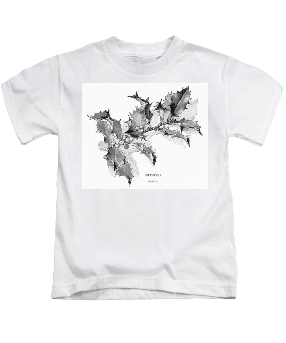 1894 Kids T-Shirt featuring the photograph Christmas Holly by Granger