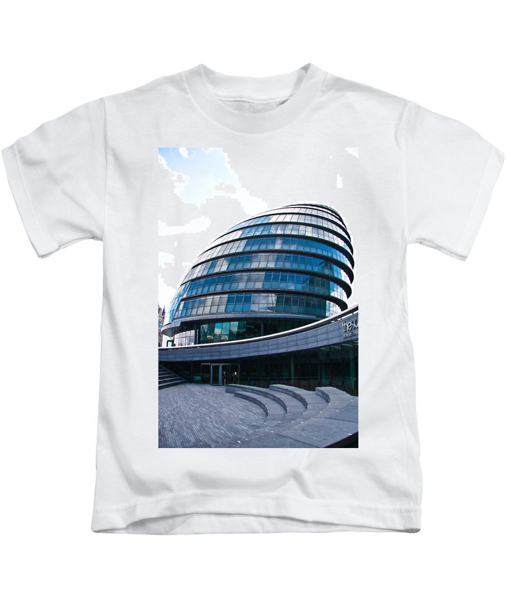 City Hall Kids T-Shirt featuring the photograph City Hall by Dawn OConnor