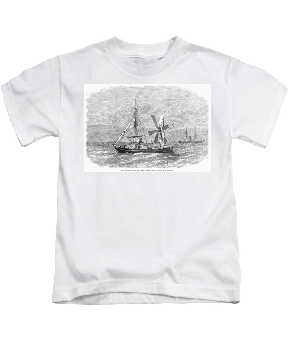 1870 Kids T-Shirt featuring the photograph City Of Ragusa, 1870 by Granger