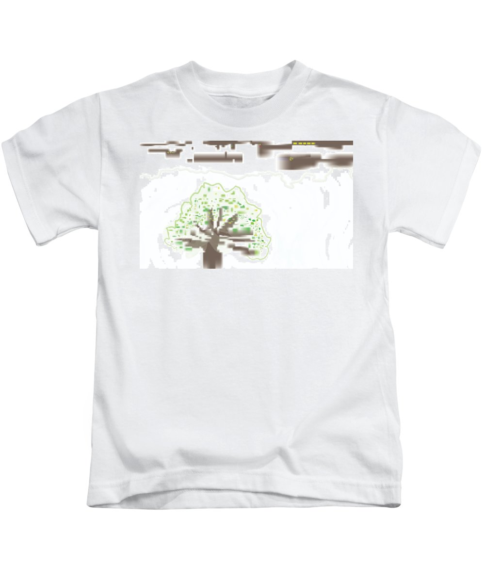 Tree Kids T-Shirt featuring the digital art City Tree by Kevin McLaughlin