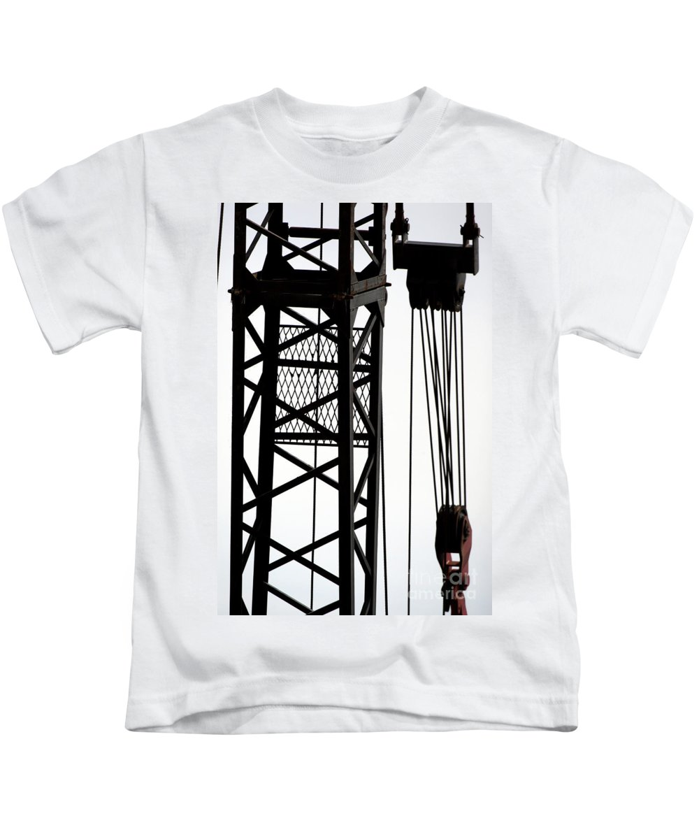Blue Kids T-Shirt featuring the photograph Cold Steel by Alan Look