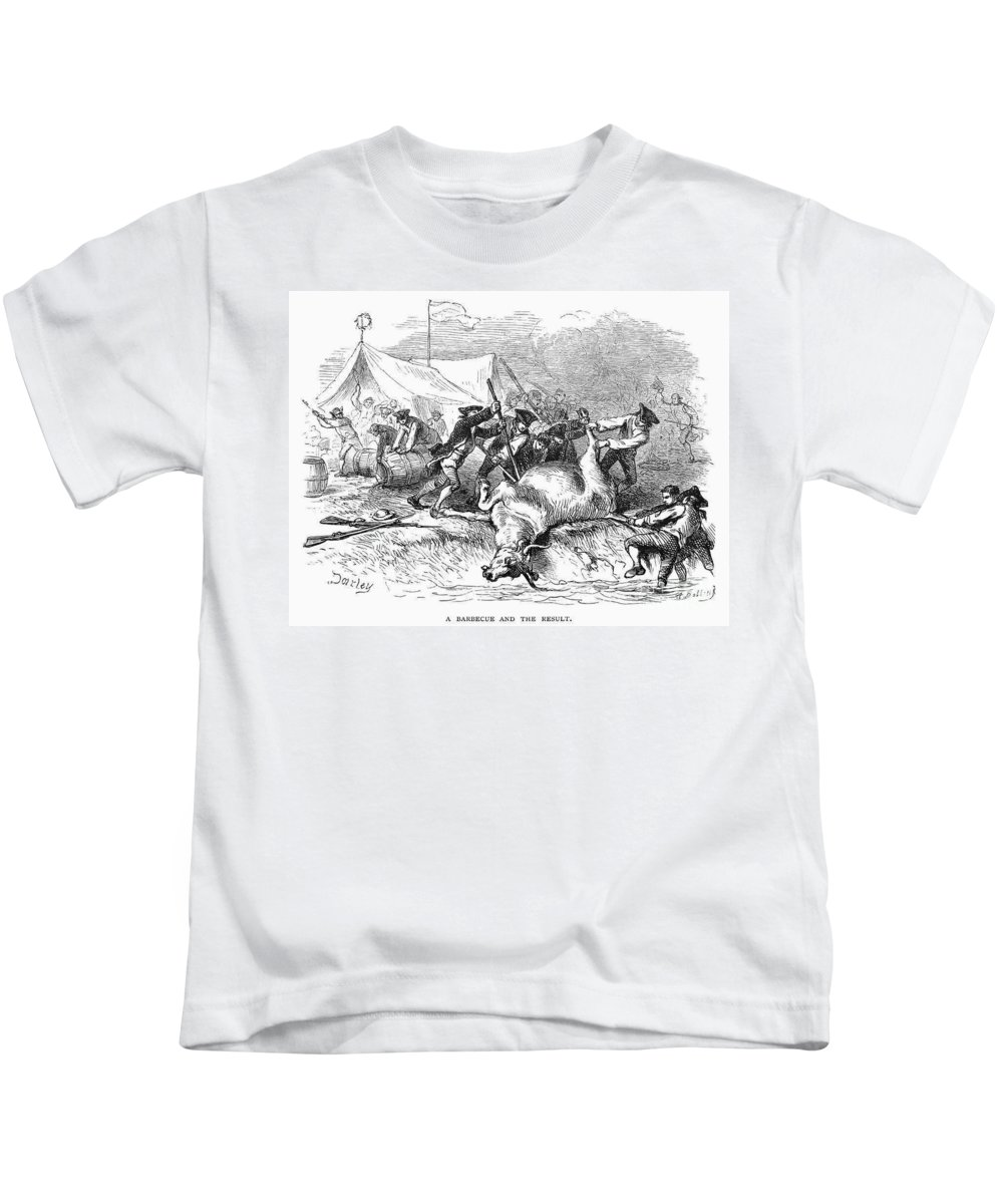 1766 Kids T-Shirt featuring the photograph Colonial Barbecue, C1766 by Granger