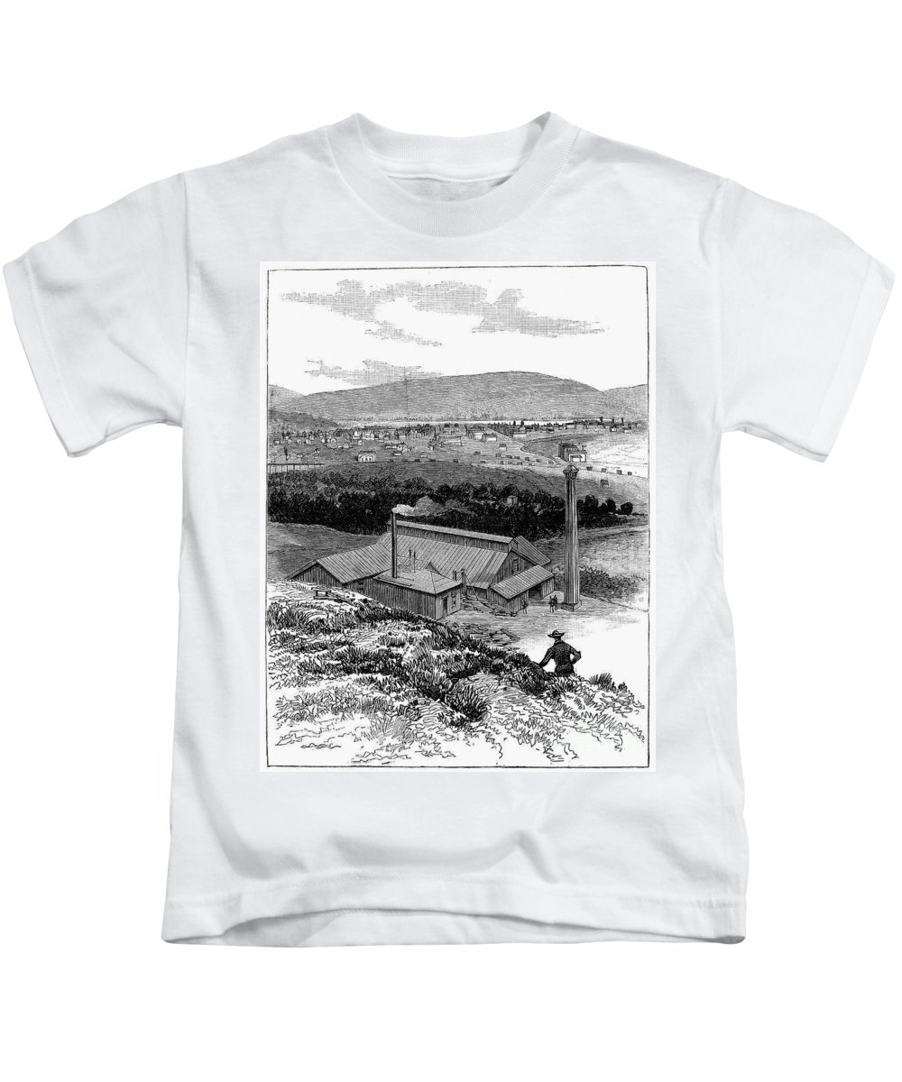 1883 Kids T-Shirt featuring the photograph Colorado: Durango, 1883 by Granger
