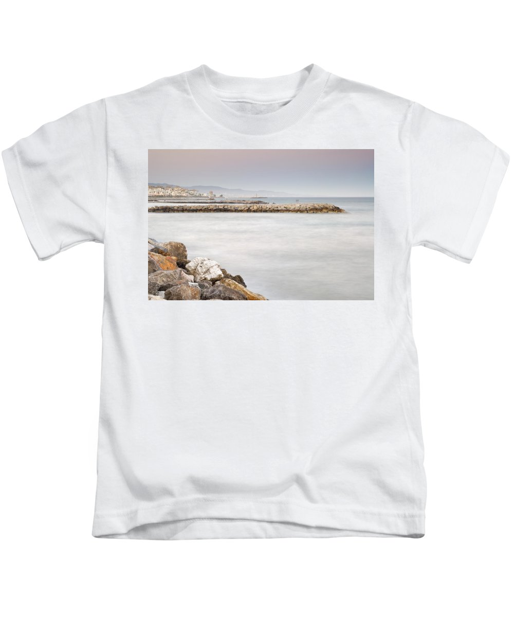 Seascape Kids T-Shirt featuring the photograph Banus Port by Guido Montanes Castillo