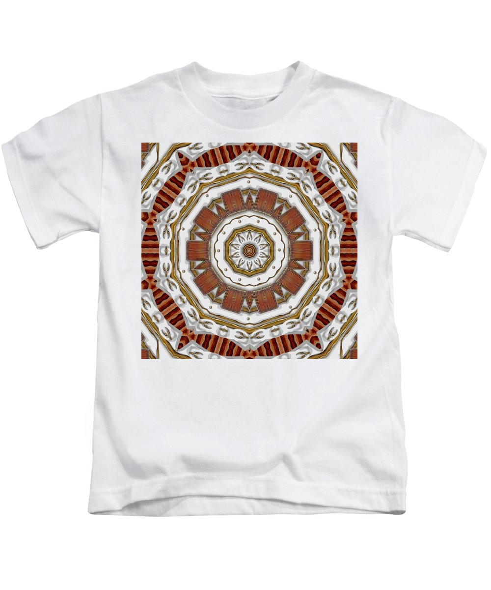 Abstract Kids T-Shirt featuring the mixed media Creame Cake Abstracte by Pepita Selles