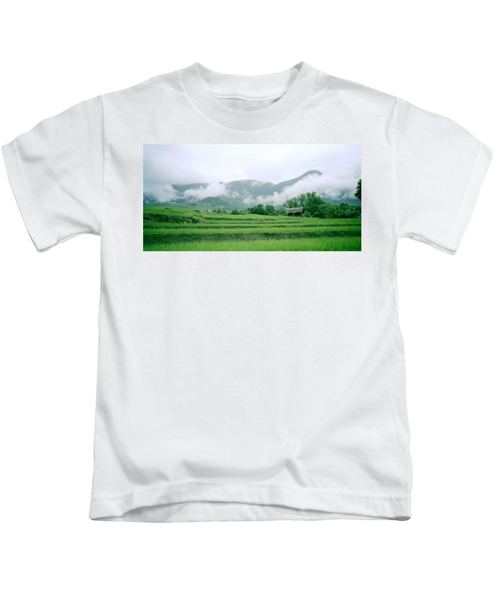Color Kids T-Shirt featuring the photograph Daybreak In Sapa by Shaun Higson