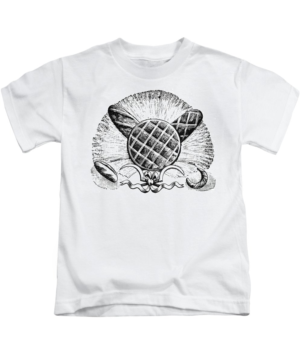 1900 Kids T-Shirt featuring the photograph Decorative Cut: Bread by Granger