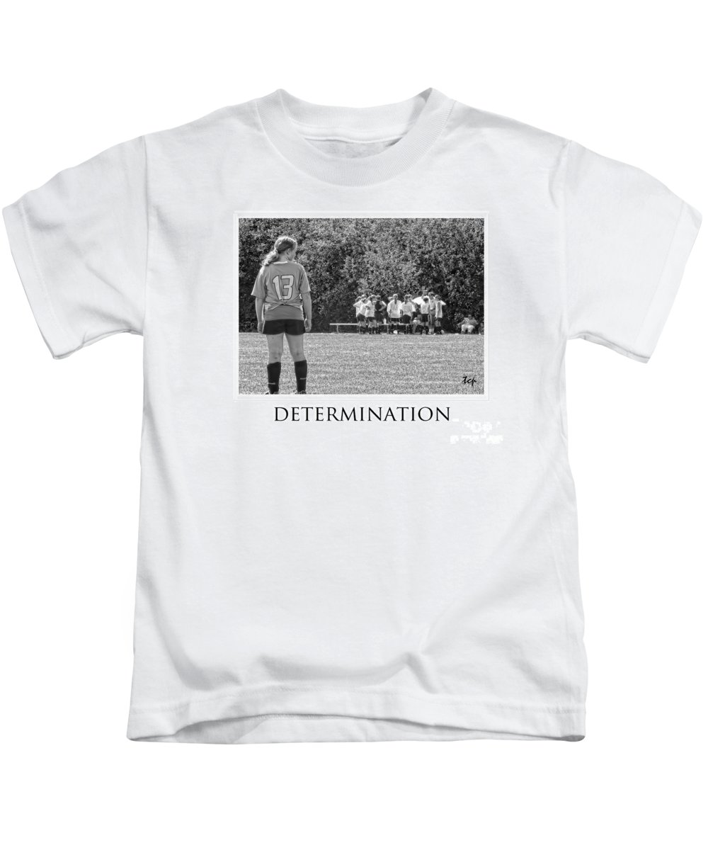 Soccer Kids T-Shirt featuring the photograph Determination by Traci Cottingham