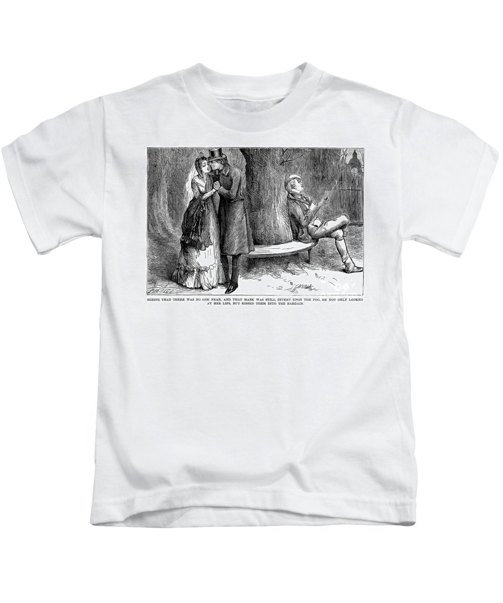 19th Century Kids T-Shirt featuring the photograph Dickens: Martin Chuzzlewit by Granger