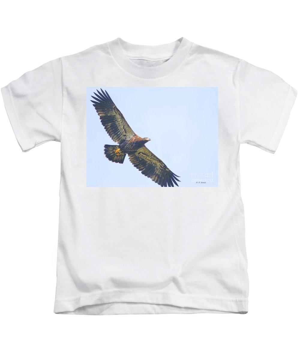 Eaglet Kids T-Shirt featuring the photograph Eaglet 2012 by Deborah Benoit