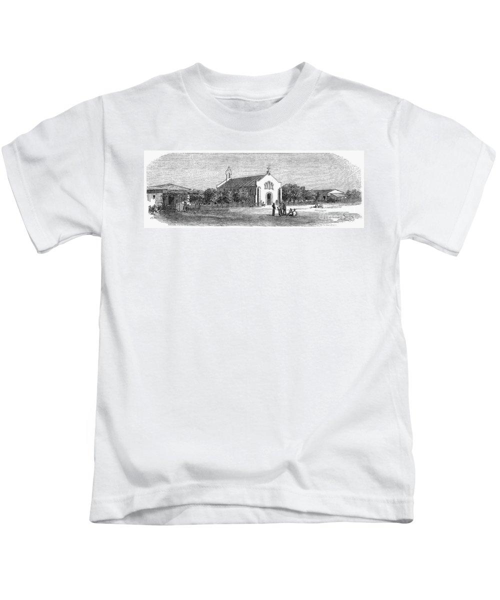 1869 Kids T-Shirt featuring the photograph Egypt: El Guisr Church, 1869 by Granger