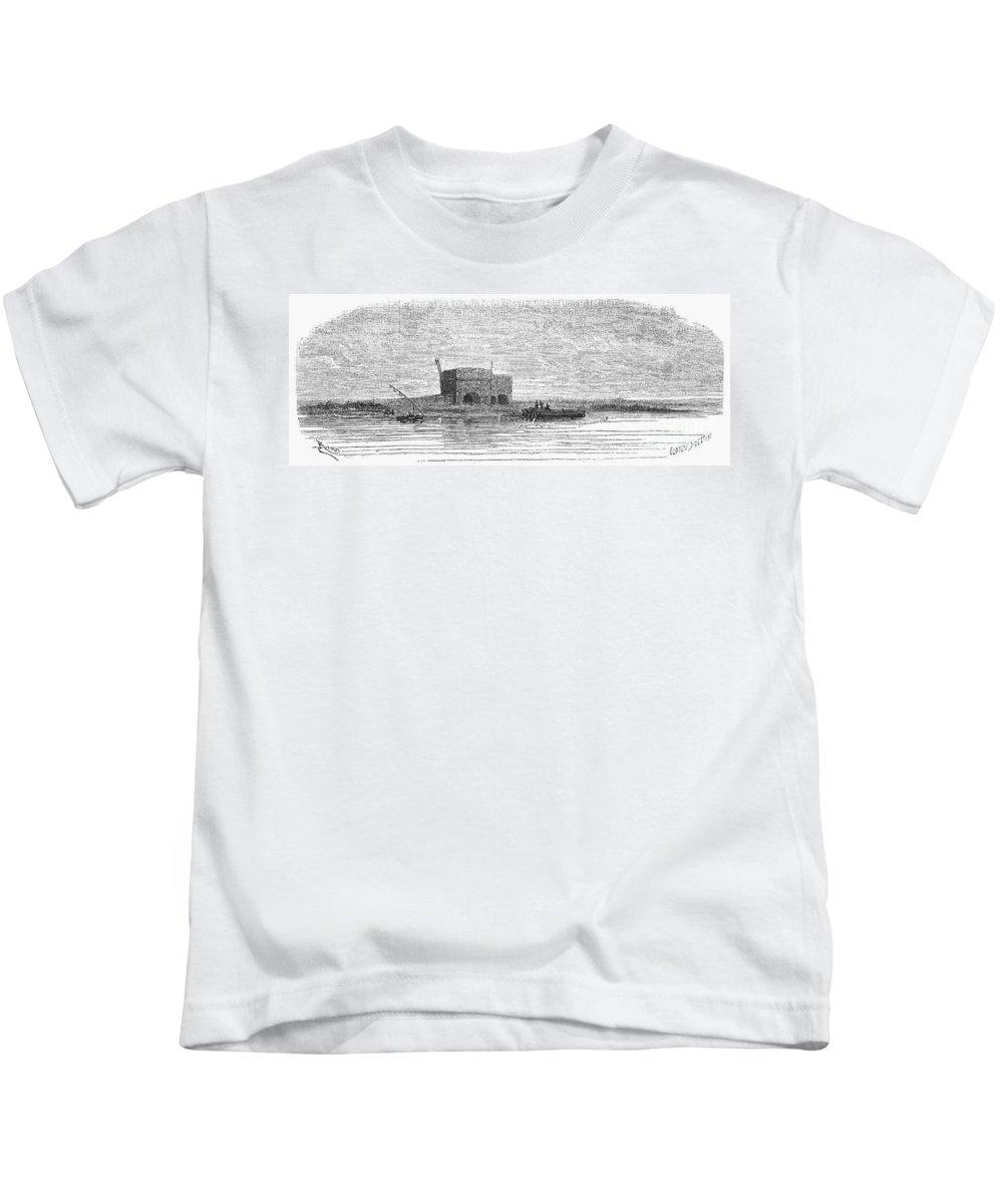 1869 Kids T-Shirt featuring the photograph Egypt: Plateau Des Hy�nes by Granger