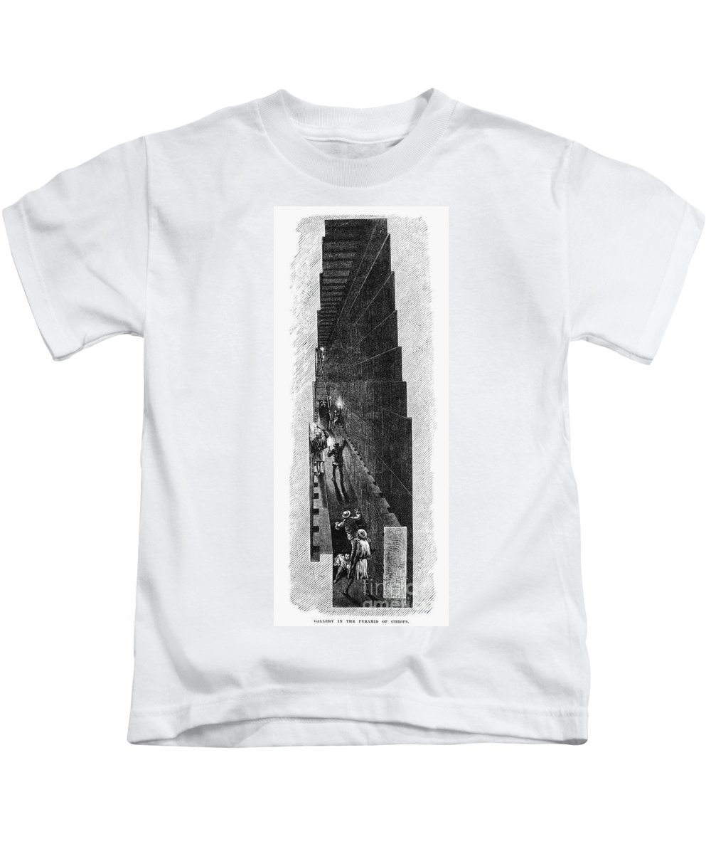1887 Kids T-Shirt featuring the photograph Egypt: Pyramid Interior by Granger