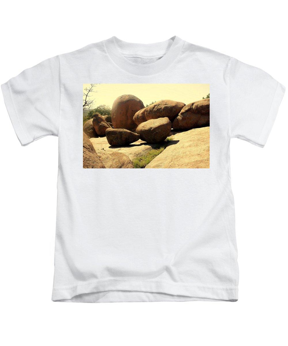Elephant Rocks Kids T-Shirt featuring the photograph Elaphant Rocks 4 by Marty Koch