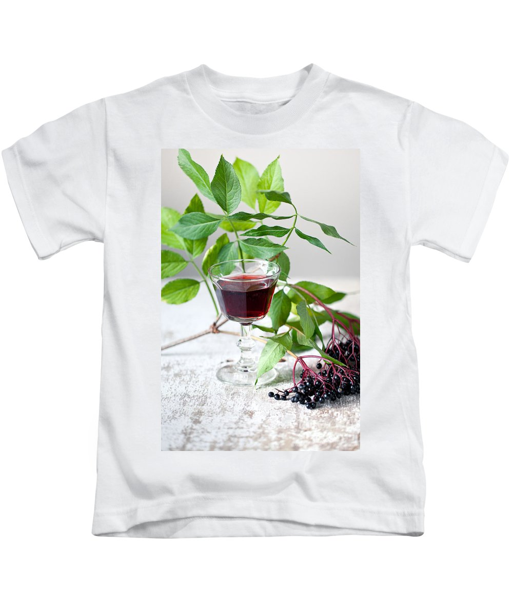 Autumn Kids T-Shirt featuring the photograph Elderberries 05 by Nailia Schwarz